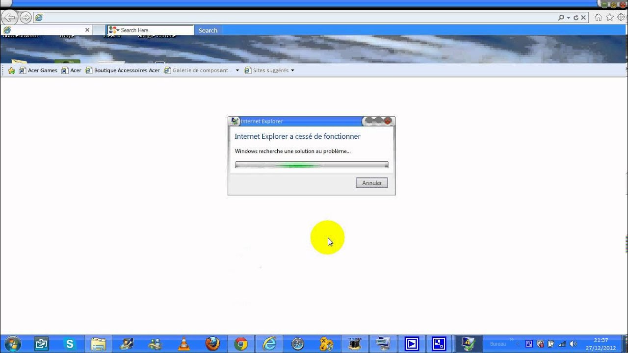 Gros probl me avec internet explorer youtube for Probleme ouverture fenetre internet explorer