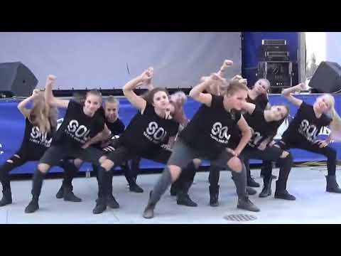 Танцы - Хип хоп групповая постановка. Девчонки жгут!