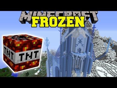 Minecraft: FROZEN GETS DESTROYED (Minecraft Mods Vs Maps) Too Much TNT Mod