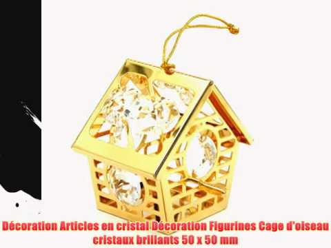 D coration articles en cristal d coration figurines cage d 39 oiseau cristau - Decoration cage oiseau ...