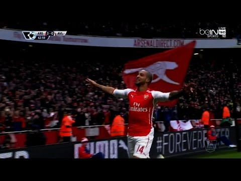 Theo Walcott vs Aston Villa Home (English Commentary) 14-15 HD 720p