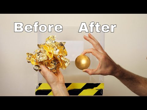 GOLD Mirror-Polished Japanese Foil Ball Challenge in a Vacuum Chamber!