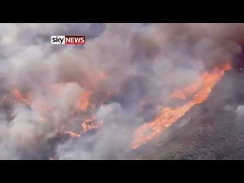 California Wildfire Forces Evacuation Of Homes