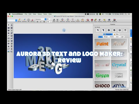 Aurora 3D Text and Logo Maker: Review