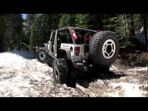 Summertime Snow Wheeling on the Rubicon Jeep Trail