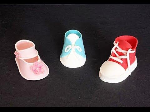 Fondant Baby Shoes