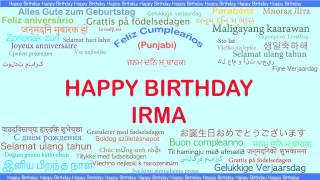 Irma   Languages Idiomas - Happy Birthday