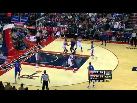 Drummond NICE Dime | Detroit Pistons Vs Washington Wizards | 12/22/2012 | NBA Season 2012/13