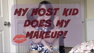 AU PAIR VLOG 12.  My host kid does my makeup!!