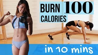 Burn 100 Calories in 10 Minutes!!! HIIT Workout AT HOME