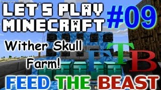 Let's Play Minecraft FTB Ep. 9 - Wither Skull Farm
