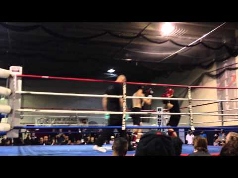 Zach Stahley Round 1 in the 2012 Bando Kickboxing Nationals Image 1