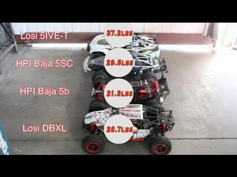Losi DBXL vs. Losi 5IVE-T vs. HPI Baja 5b vs. HPI Baja 5SC