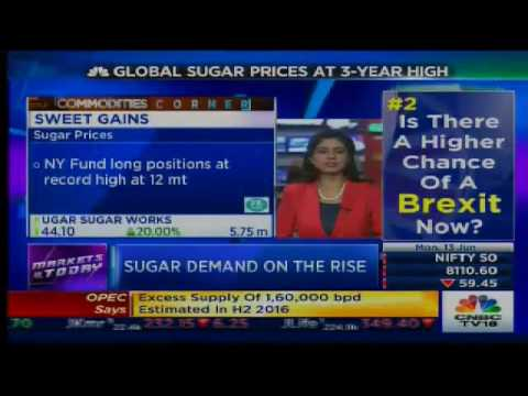 Global Sugar Prices At 3-Year High