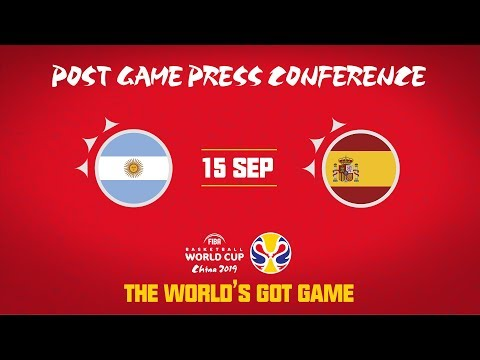 Argentina v Spain - Press Conference - FIBA Basketball World Cup