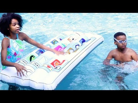 HUGE iPHONE In Pool! -  Shasha and Shiloh