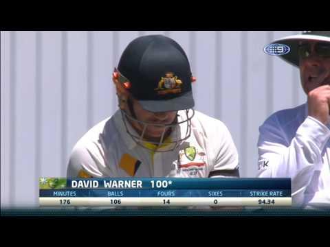 David Warner 100   1st Test vs India