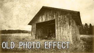 Photoshop CS6 Old Photo Effect