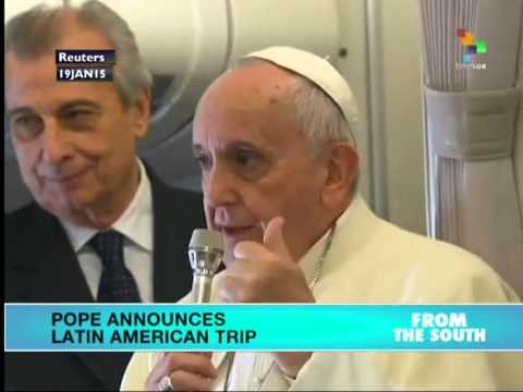 Pope Francis to visit South America