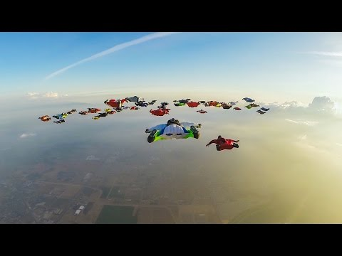 Record for the Largest Predetermined Formation Wingsuit Flight.