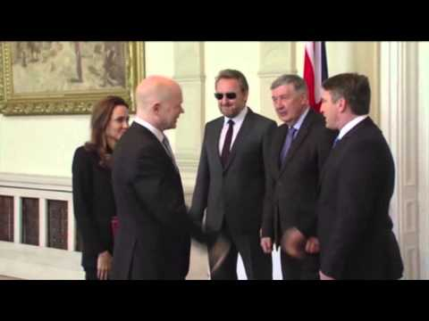 Raw: Jolie, Hague Hail Bosnia Anti-rape Training