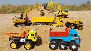Construction Vehicles Toys For Kids | Excavator Dump Truck Tractor Toys For Children | Vic Vic