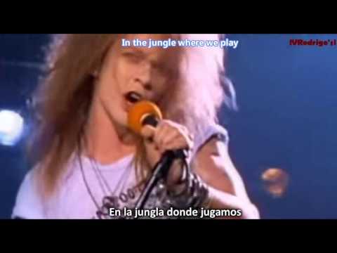 Guns N' Roses - Welcome To The Jungle [Lyrics y Subtitulos en Español]