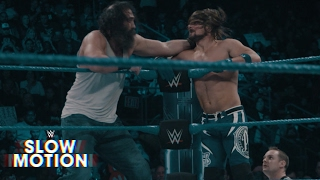 Dazzling slow motion footage of the 10-Man Battle Royal: SmackDown LIVE Exclusive, Feb. 22, 2017