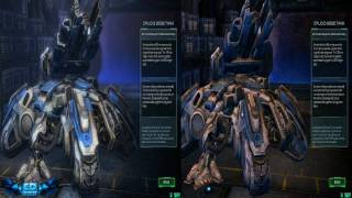 StarCraft II Wings of Liberty Ultra Vs Low Graphics Comparison 720p HD