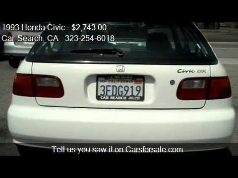 1998 honda hatchback for sale los angeles ca autos post for Honda civic si for sale in los angeles