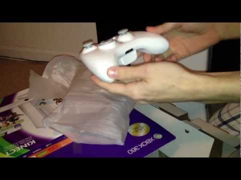 New White Xbox 360 Special Edition 4GB Kinect Family Bundle Unboxing