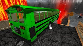 BeamNG drive - School Bus Crashes & Jumps #18
