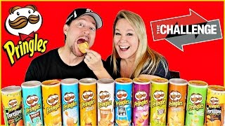 PRINGLES CHALLENGE  Cheryl & Bruce Pringle Challenge | Potato Chip CHALLENGE