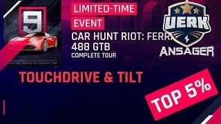Asphalt 9: Ferrari 488 GTB Car Hunt Riot Touchdrive & Tilt