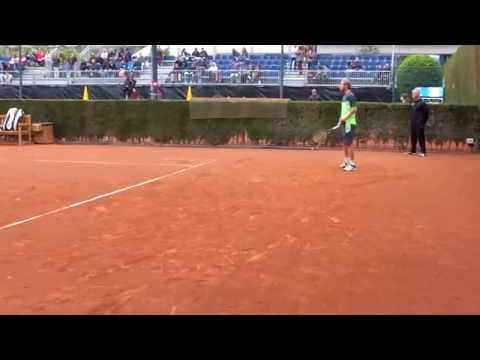 Dmitry Tursunov practicing [HD] - Barcelona Open Banc Sabadell 2014