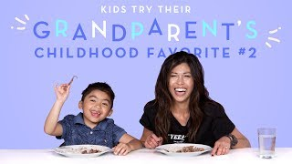 Kids Try Their Grandparent's Favorite Food: Round 2! | Kids Try | HiHo Kids