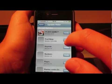 ocultar actualizaciones de las apps del iphone/ipad/ipod touch
