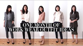 ONE MONTH OF WORKWEAR OUTFITS: Transitional Season Professional Office Style Outfits | Mademoiselle