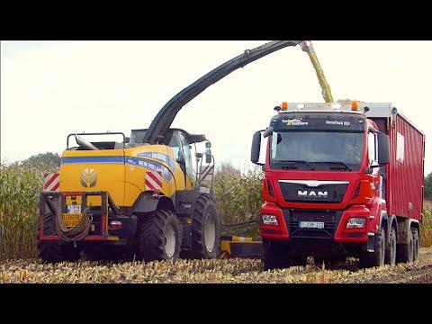 Maïs hakselen 2014 | New Holland FR700 | T7. 270 Black Power | MAN TGS 8x8 Agrar truck | Jan Bevers