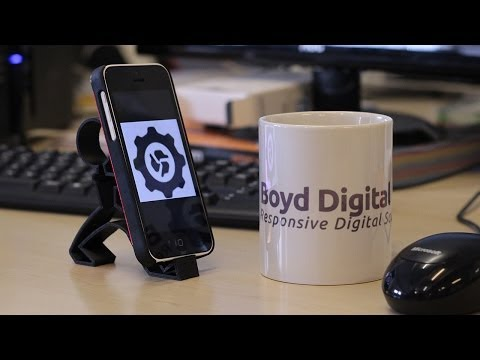 3D Printed iPhone Holder Time-lapse