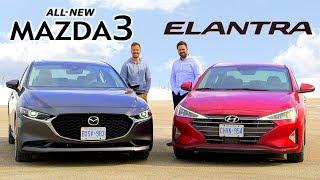 2019 Mazda3 vs Hyundai Elantra // Daily Drivers Duel