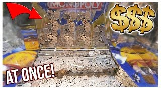 Coin Pusher || 500 QUARTERS AT ONCE!!