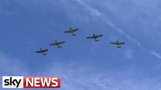 Battle Of Britain Flypast Over Buckingham Palace