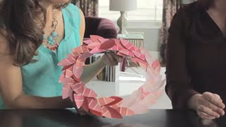 How to Make a Wreath from Paint Chips