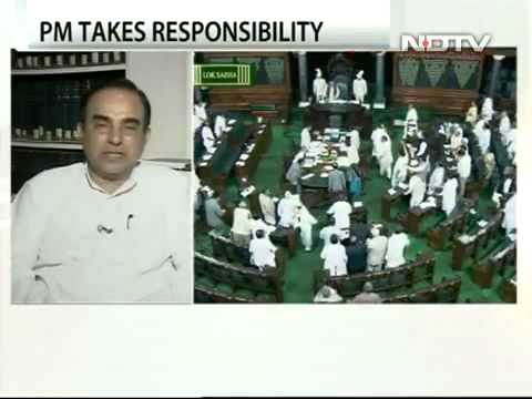 Dr Subramanian Swamy in NDTV debate - Will spectrum auction be successful?