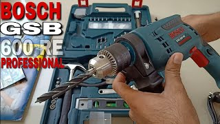Bosch GSB 600 RE 13mm 600watt Smart Drill Kit || Unboxing and Usage