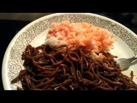 ASMR Vegetable Lo Mein and White Rice