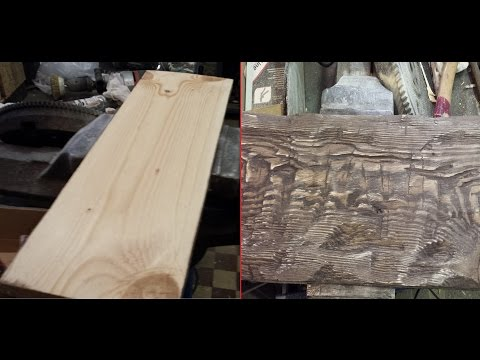 Как состарить дерево / Aging wood.