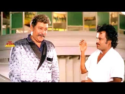 Rajnikanth Comedy Scene - Says Sorry To His Owner - Raja Chinna Roja Telugu Movie video