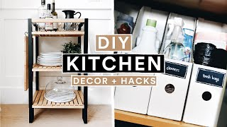 DIY IKEA KITCHEN DECOR + ORGANIZATION HACKS - Modern Farmhouse // Lone Fox